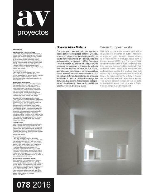 AV Proyectos 78 Dossier Aires Mateus - Preview 2