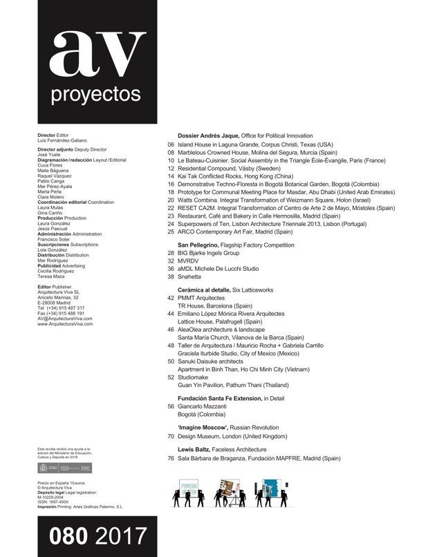 AV Proyectos 80 Andrés Jaque - Preview 1