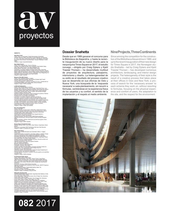 AV Proyectos 82 Dossier Snøhetta - Preview 2