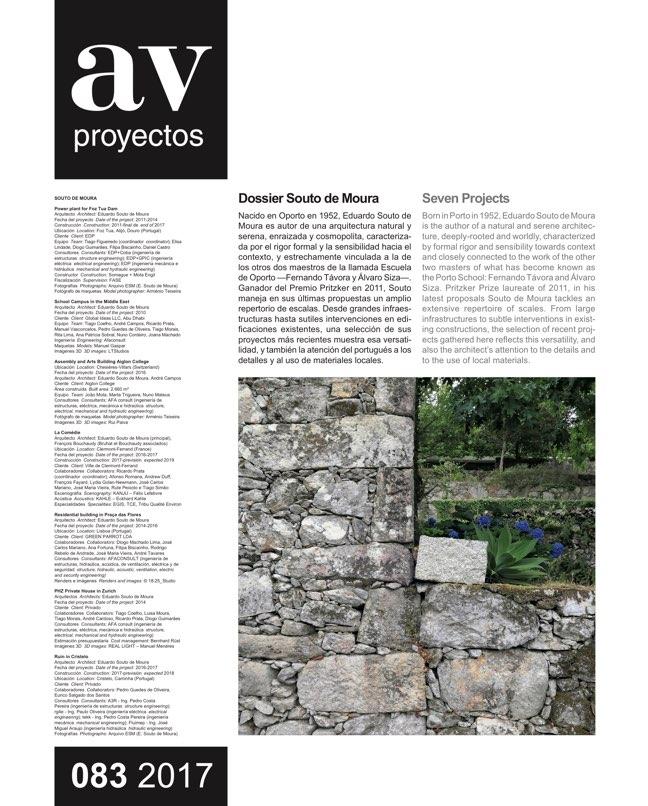 AV Proyectos 83 Dossier Souto de Moura - Preview 2
