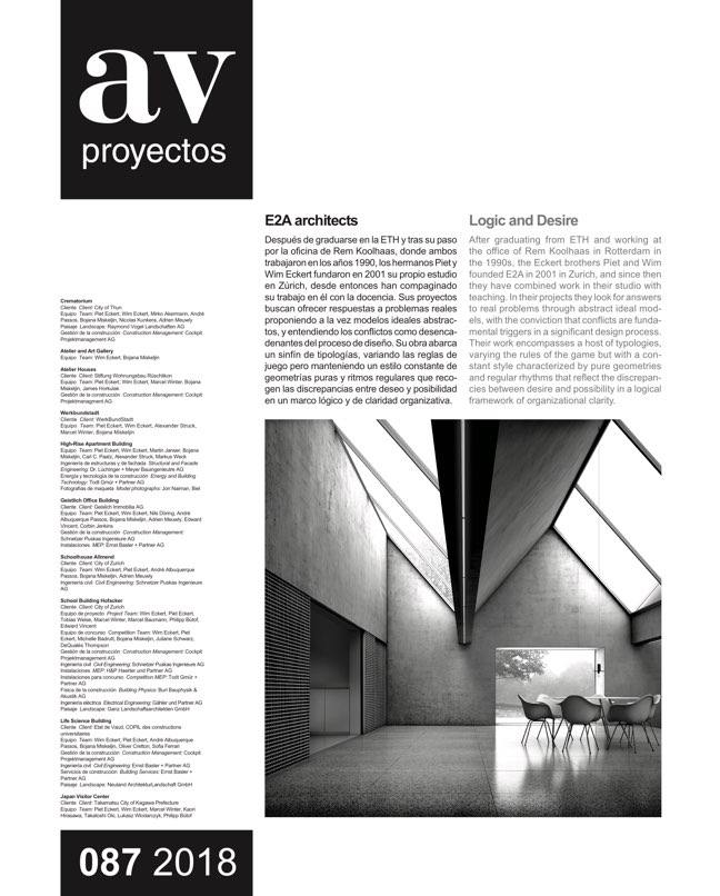 AV Proyectos 87 E2A Architects - Preview 2