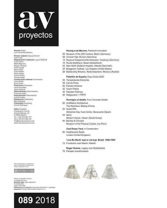 AV Proyectos 89 HERZOG & DE MEURON - Preview 1