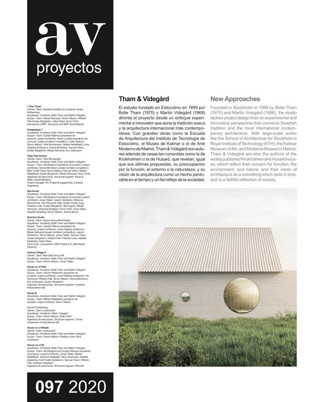 AV Proyectos 97 Tham & Videgård - Preview 2