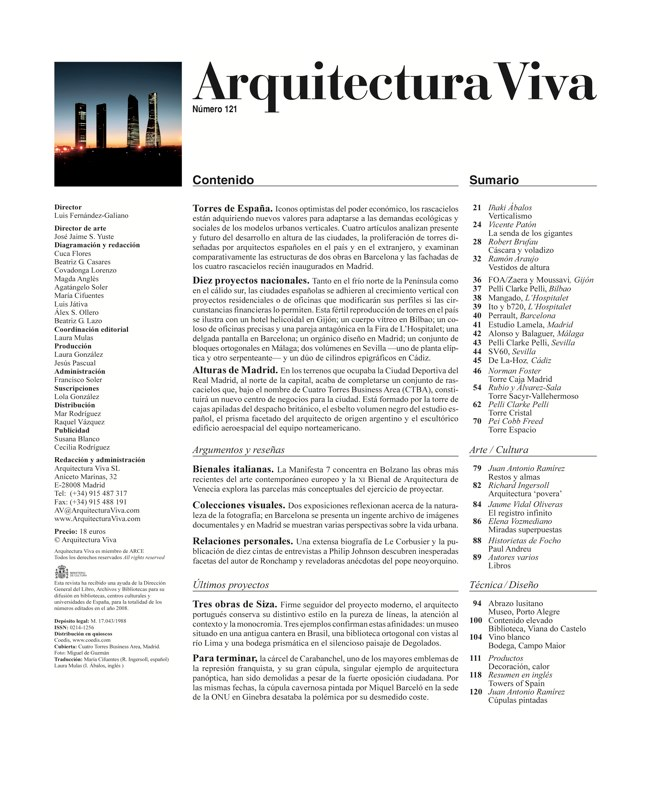 Arquitectura Viva 121 TORRES DE ESPAÑA - Preview 1