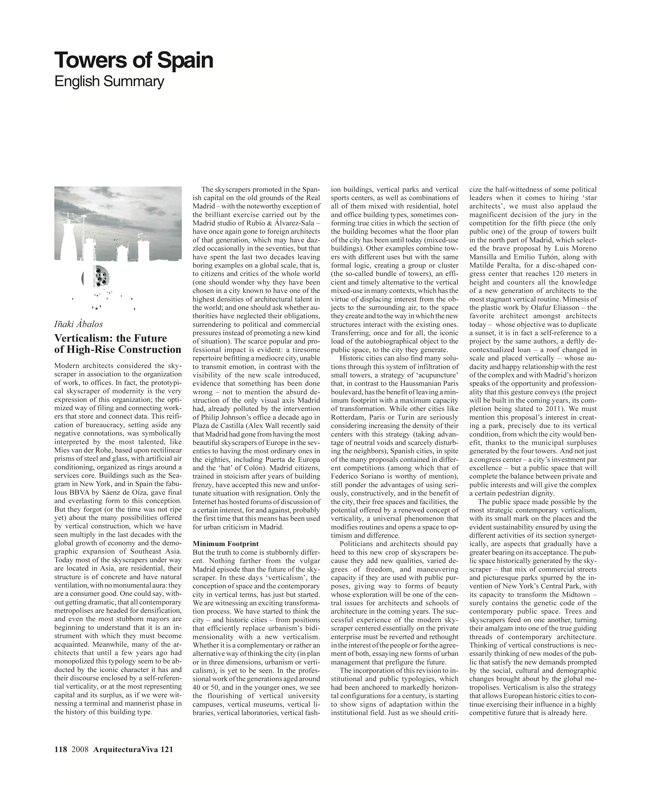 Arquitectura Viva 121 TORRES DE ESPAÑA - Preview 27