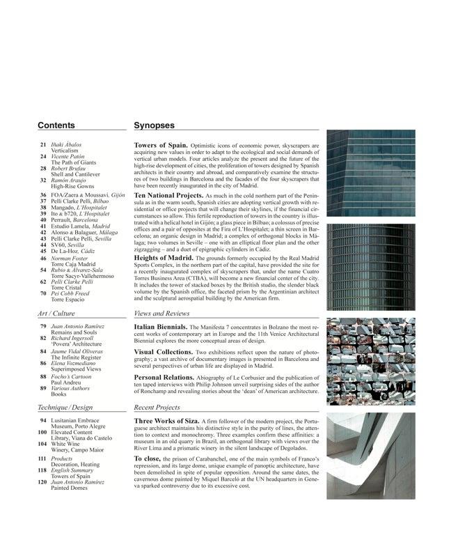 Arquitectura Viva 121 TORRES DE ESPAÑA - Preview 2