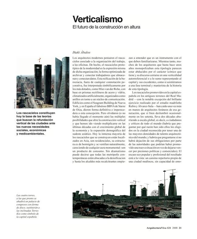 Arquitectura Viva 121 TORRES DE ESPAÑA - Preview 5