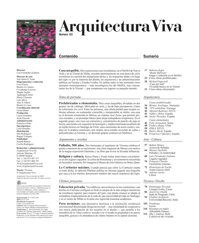 Arquitectura Viva 122 Affordable Houses - Preview 1