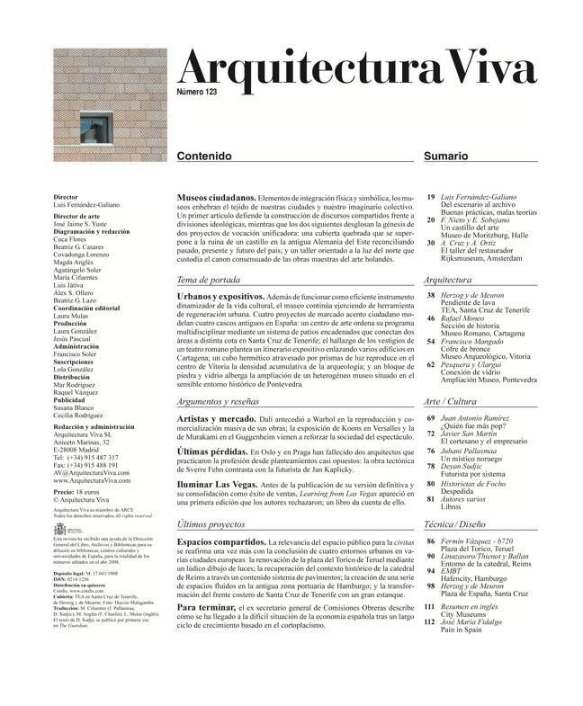 Arquitectura Viva 123 MUSEOS CIUDADANOS - Preview 1