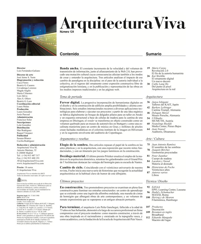 Arquitectura Viva 124 Banda Ancha · Broadband - Preview 1