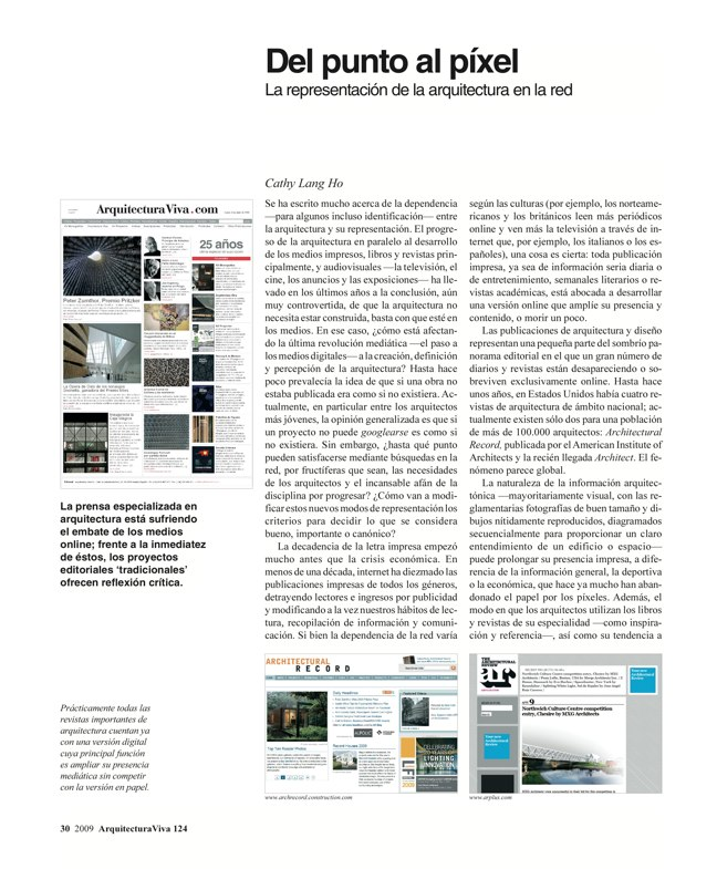 Arquitectura Viva 124 Banda Ancha · Broadband - Preview 4