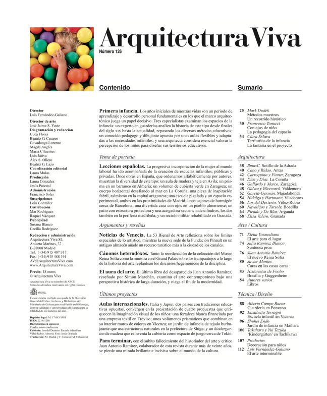 Arquitectura Viva 126 Primera infancia · Early Childhood - Preview 1