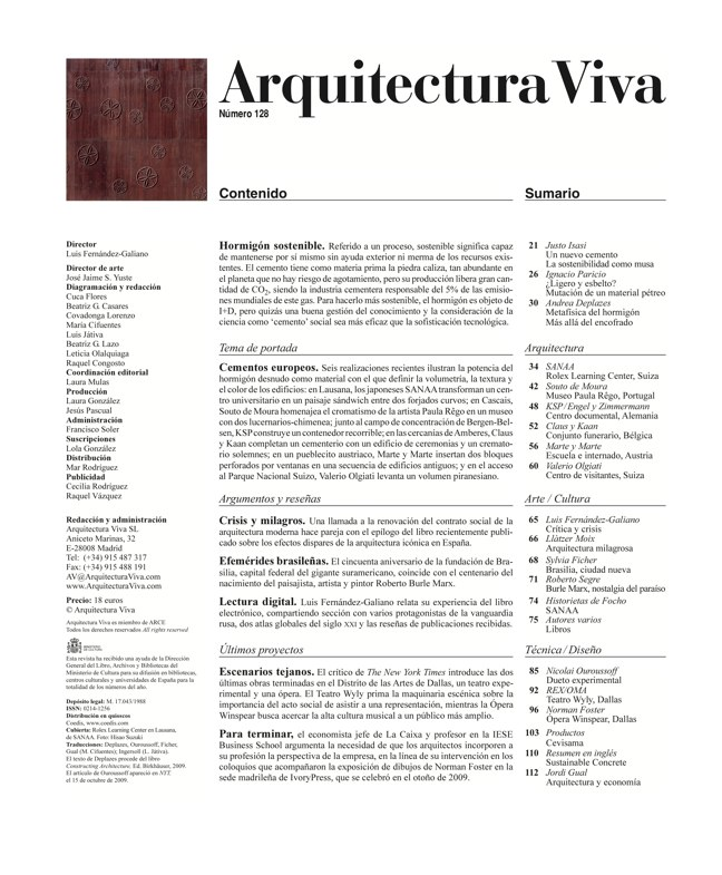 Arquitectura Viva 128 Hormigón sostenible I Sustainable concrete - Preview 1