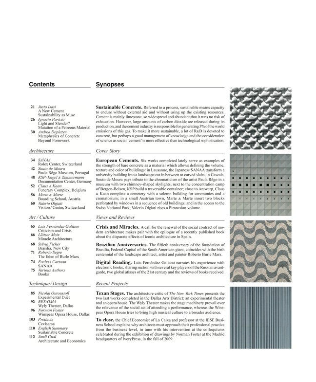 Arquitectura Viva 128 Hormigón sostenible I Sustainable concrete - Preview 2