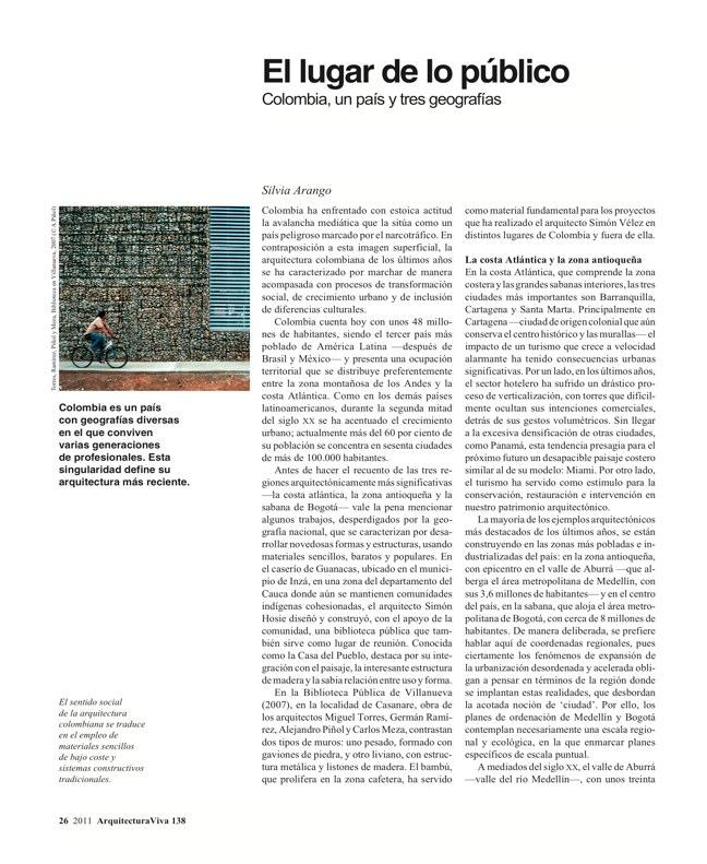 Arquitectura Viva 138 Mosaico Colombia - Preview 3