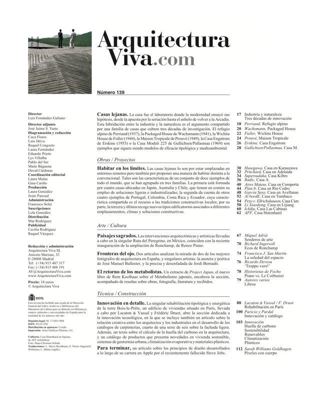 Arquitectura Viva 139 CASAS LEJANAS I REMOTE HOUSES - Preview 1