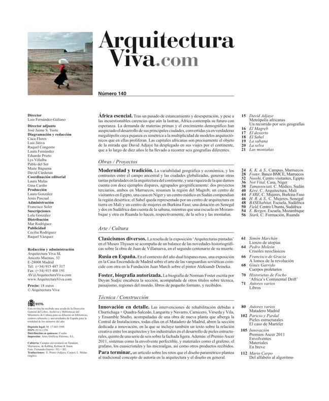 Arquitectura Viva 140 África esencial - Preview 1