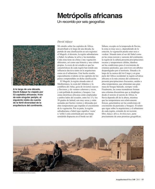 Arquitectura Viva 140 África esencial - Preview 2