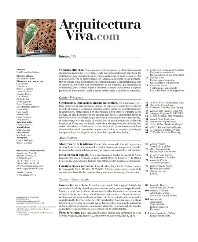 Arquitectura Viva 141 Espacios efímeros - Preview 1
