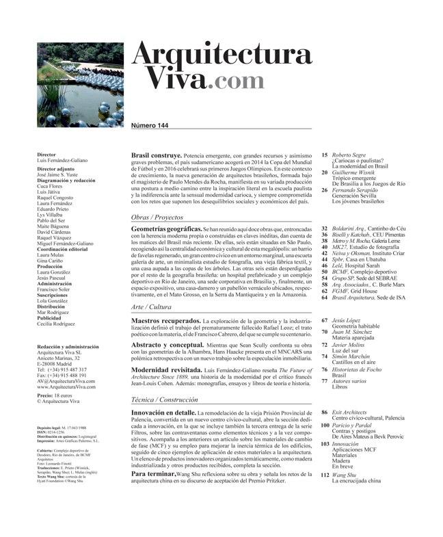Arquitectura Viva 144 Brasil Construye - Preview 1
