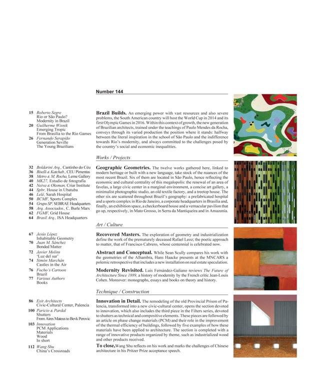 Arquitectura Viva 144 Brasil Construye - Preview 2