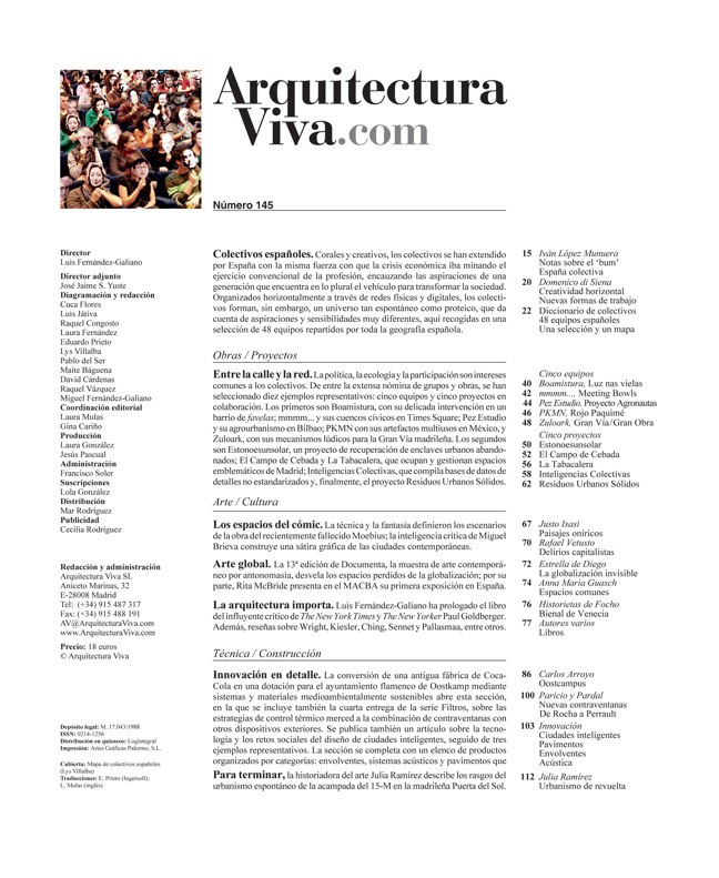 Arquitectura Viva 145 COLECTIVOS ESPAÑOLES / SPANISH COLLECTIVES - Preview 1