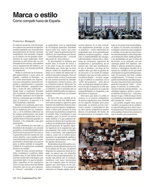 Arquitectura Viva 147 LO COMúN. DE LA AUSTERIDAD A LA SOLIDARIDAD - Preview 11