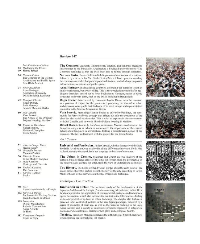 Arquitectura Viva 147 LO COMúN. DE LA AUSTERIDAD A LA SOLIDARIDAD - Preview 2