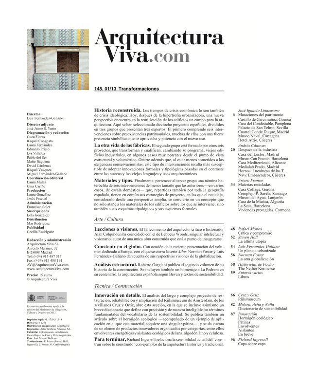 Arquitectura Viva 148 Transformaciones / Transformations - Preview 1