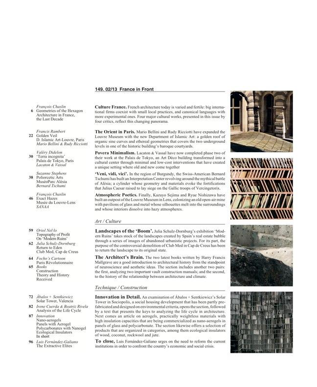 Arquitectura Viva 149 FRANCE IN FRONT / FRANCIA AL FRENTE - Preview 2