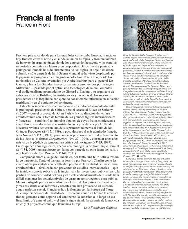Arquitectura Viva 149 FRANCE IN FRONT / FRANCIA AL FRENTE - Preview 3