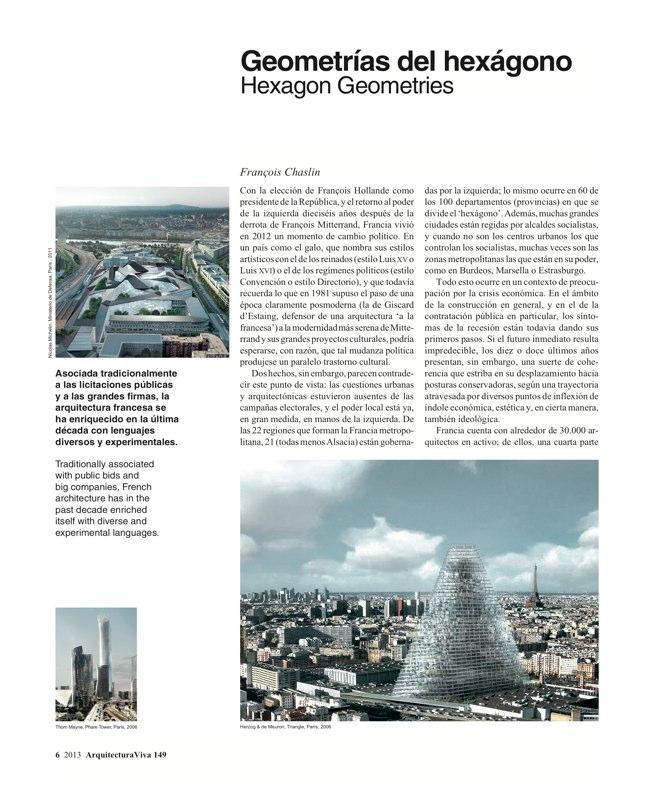 Arquitectura Viva 149 FRANCE IN FRONT / FRANCIA AL FRENTE - Preview 4