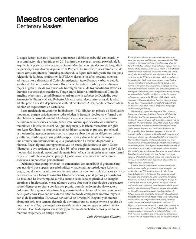 Arquitectura Viva 150. 03/13 Maestros centenarios CENTENARY MASTERS - Preview 3