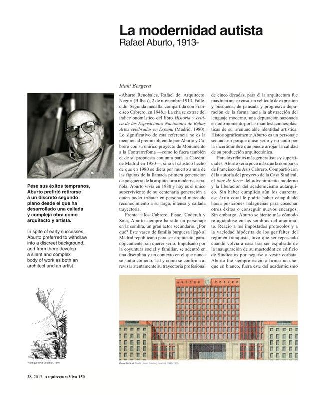 Arquitectura Viva 150. 03/13 Maestros centenarios CENTENARY MASTERS - Preview 9