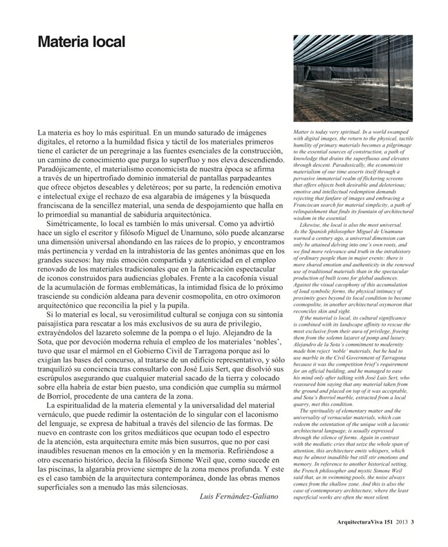 Arquitectura Viva 151 LOCAL MATERIAL. Back to Basics: Essential Experiences - Preview 3