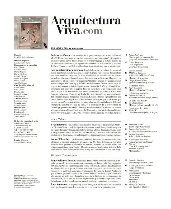 Arquitectura Viva 152 - Preview 1