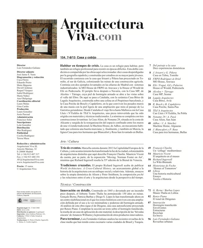 Arquitectura Viva 154 HOUSES AS SHELTERS - Preview 1