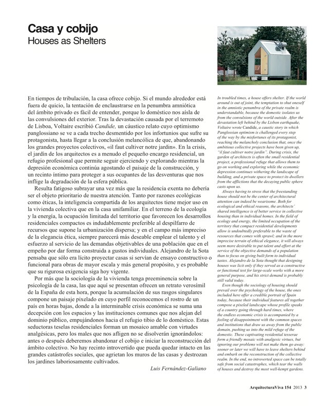Arquitectura Viva 154 HOUSES AS SHELTERS - Preview 3