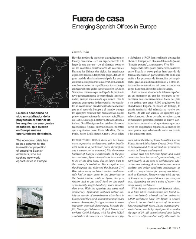 Arquitectura Viva 155 09/13 SPANIARDS IN EUROPE - Preview 4
