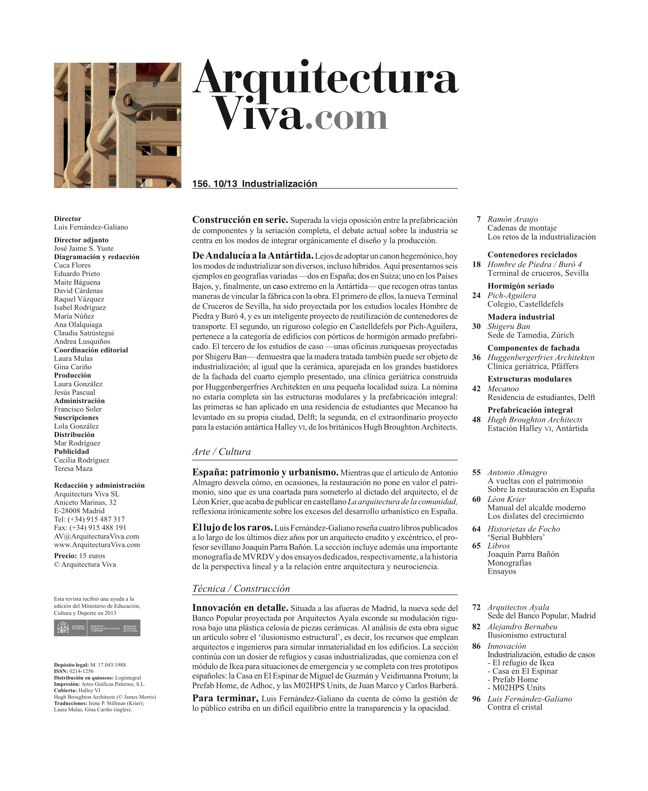 Arquitectura Viva 156. 10/13 Industry Builds - Preview 1