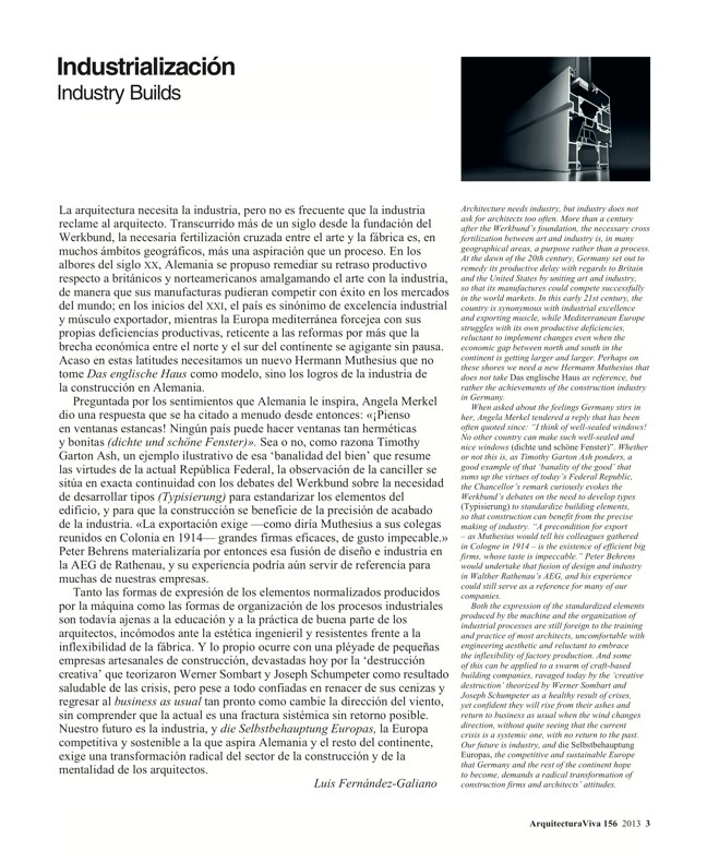 Arquitectura Viva 156. 10/13 Industry Builds - Preview 3