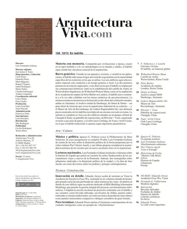 Arquitectura Viva 158 Brick Works - Preview 1