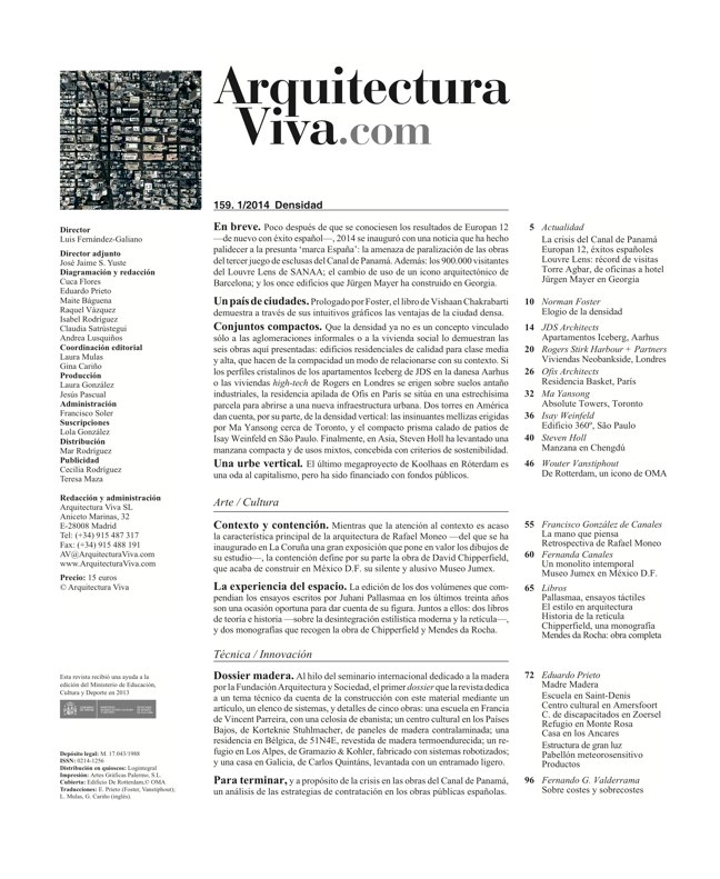Arquitectura Viva 159 Density Matters - Preview 1