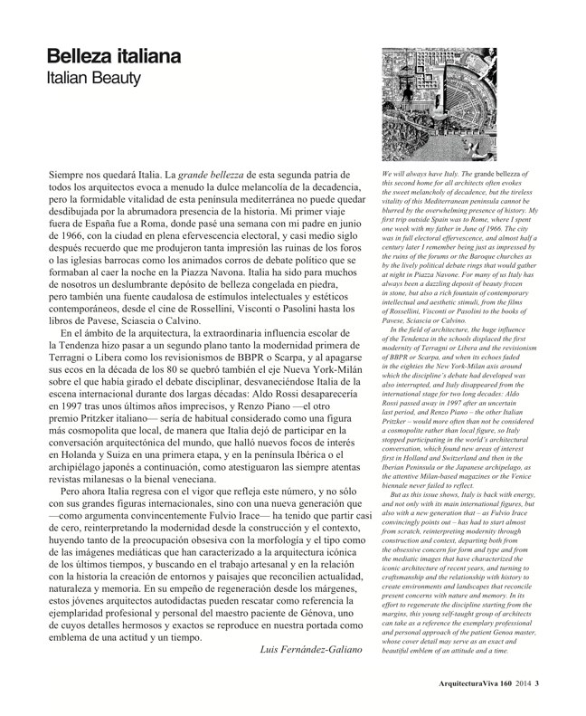 Arquitectura Viva 160 Italian Beauty - Preview 3