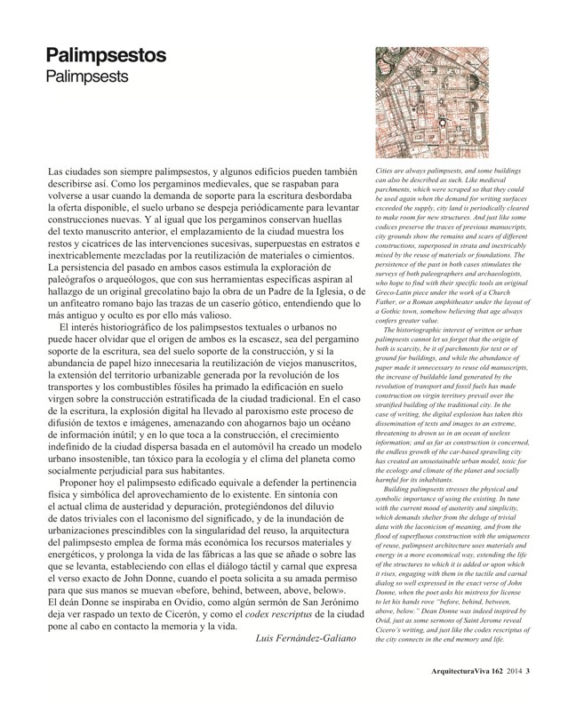 Arquitectura Viva 162 Palimpsests. Extending the Life of Buildings - Preview 2