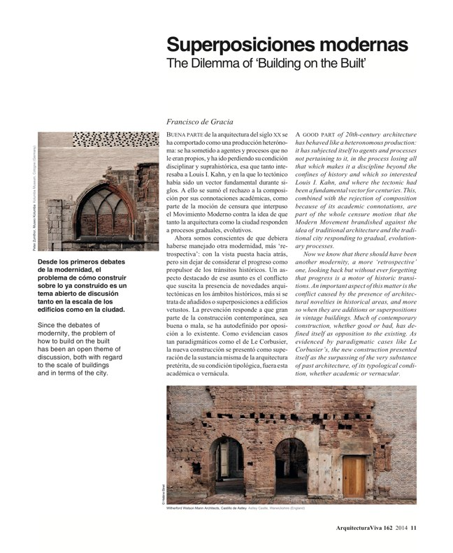 Arquitectura Viva 162 Palimpsests. Extending the Life of Buildings - Preview 3