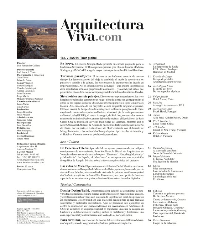 Arquitectura Viva 165 GLOBAL TOUR - Preview 1