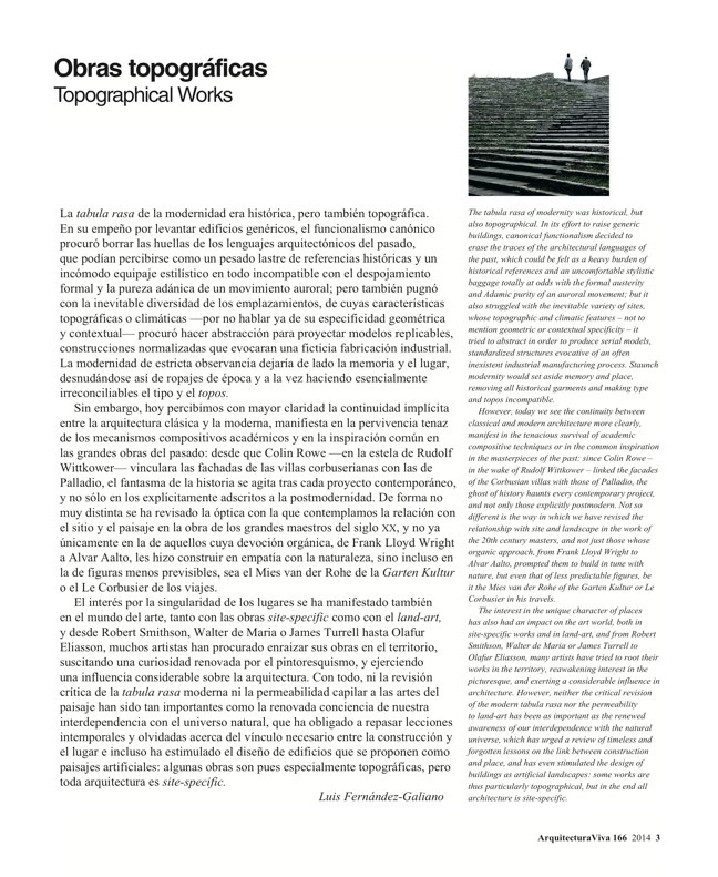 Arquitectura Viva 166 TOPOGRAPHICAL WORKS / OBRAS TOPOGRÁFICAS - Preview 3