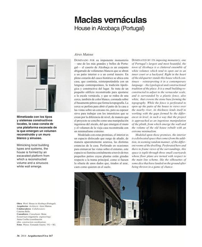 Arquitectura Viva 167 IBERIAN HOUSES · CASAS IBÉRICAS - Preview 13