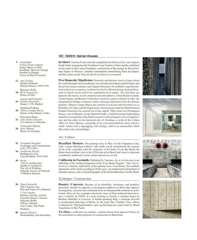 Arquitectura Viva 167 IBERIAN HOUSES · CASAS IBÉRICAS - Preview 2